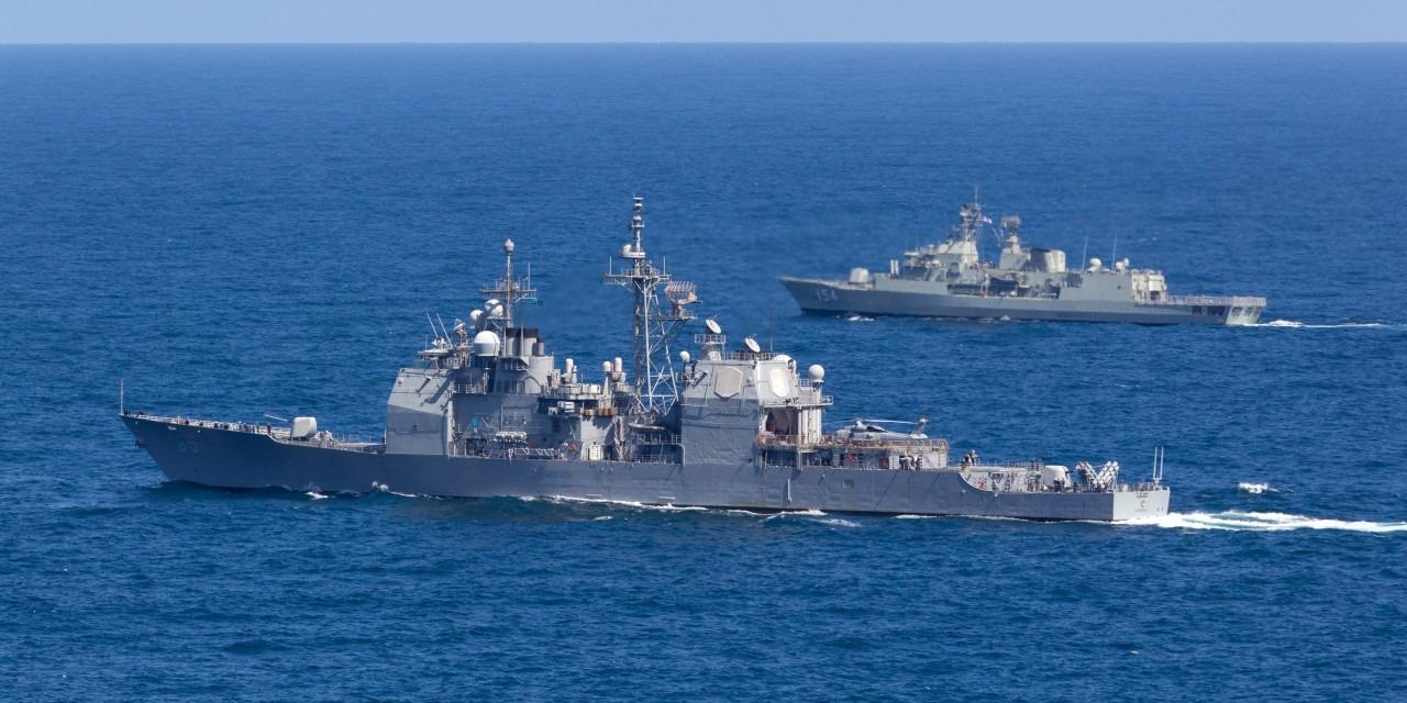 Deployed warships